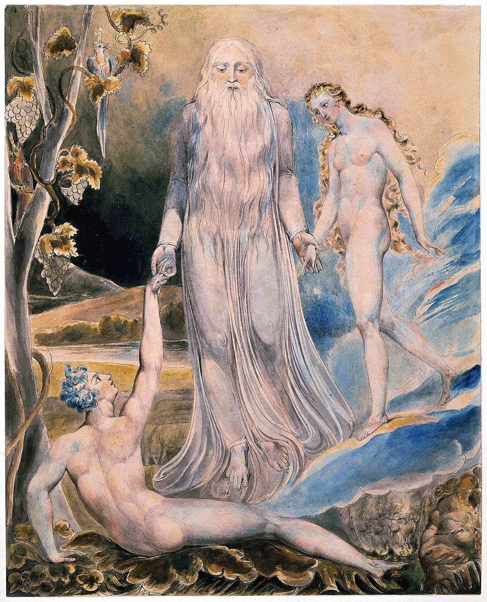 The depiction of the Christian creation myth, by William Blake