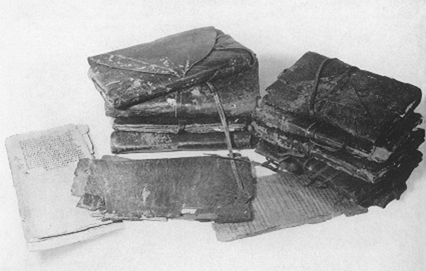 Ancient books were put in jars and left in a cave in 350 AD