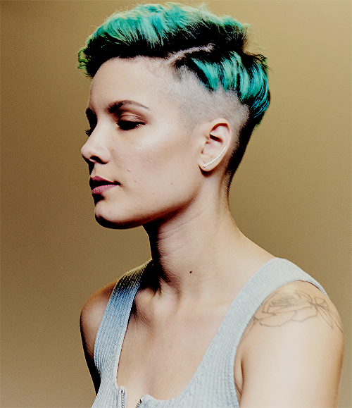 Halsey with gender-bending crew cut