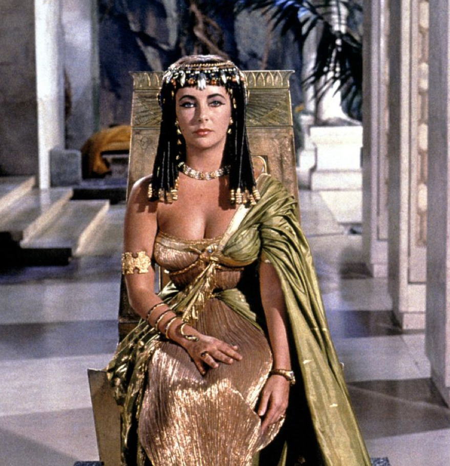 Elizabeth Taylor as Cleopatra, in 1963