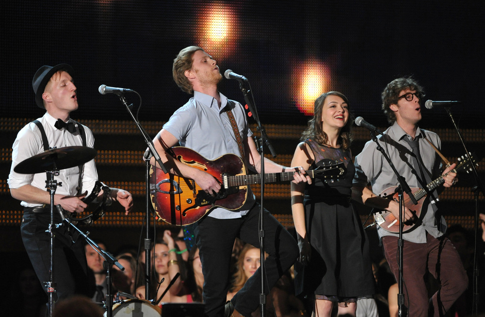 The Lumineers performing at the Grammy's 2013