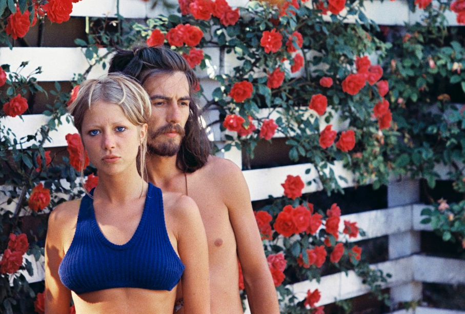 George Harrison and his muse, Patti Boyd.
