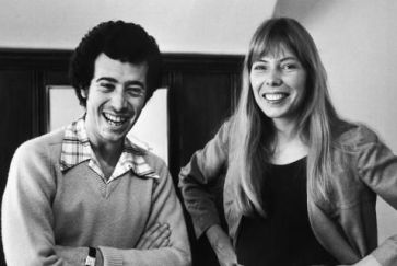 David Geffen and Joni Mitchell
