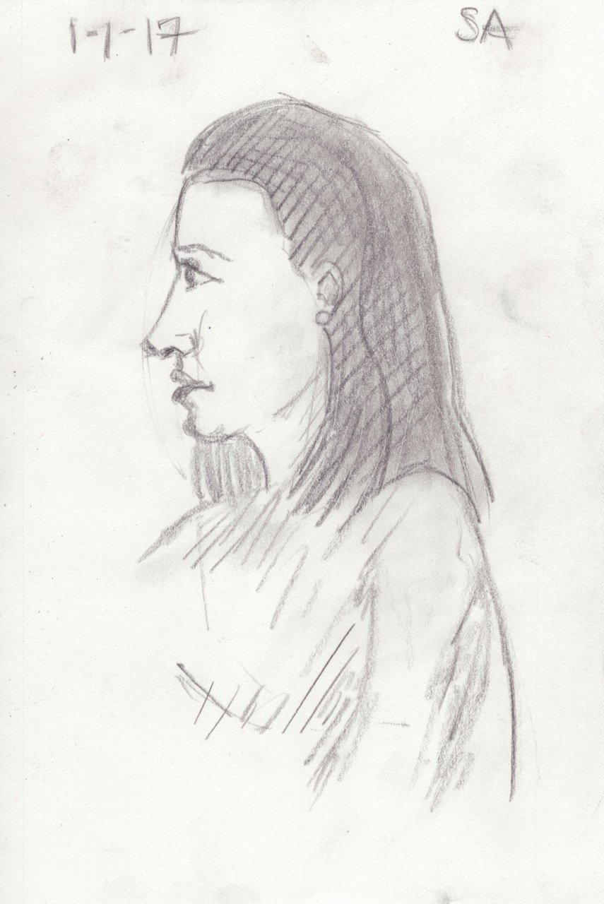 Life Study - French Woman in Cafe
