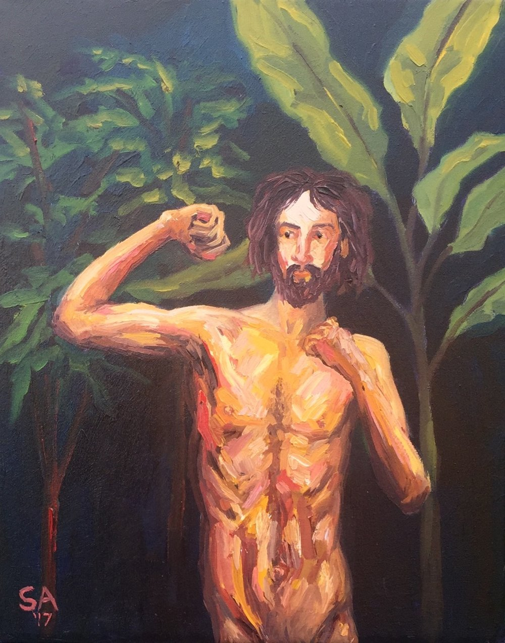 """""""The Savage Man Within Me,"""" Oil paint on 16x24 canvas"""