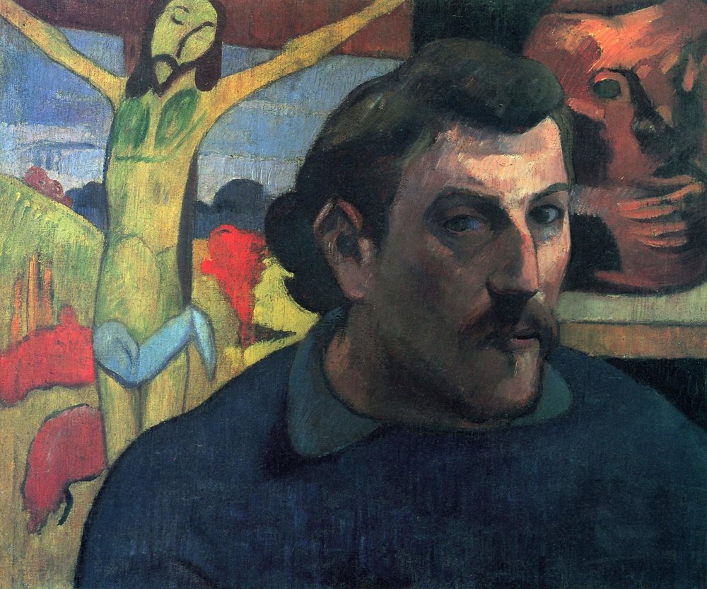 Paul Gauguin,  Self-Portrait with the Yellow Christ,  1890-1891