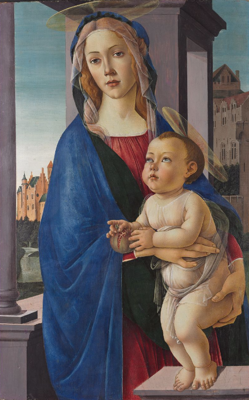 "Sandro Botticelli, ""The Virgin and Child,""  Copyright President and Fellows of Harvard College"