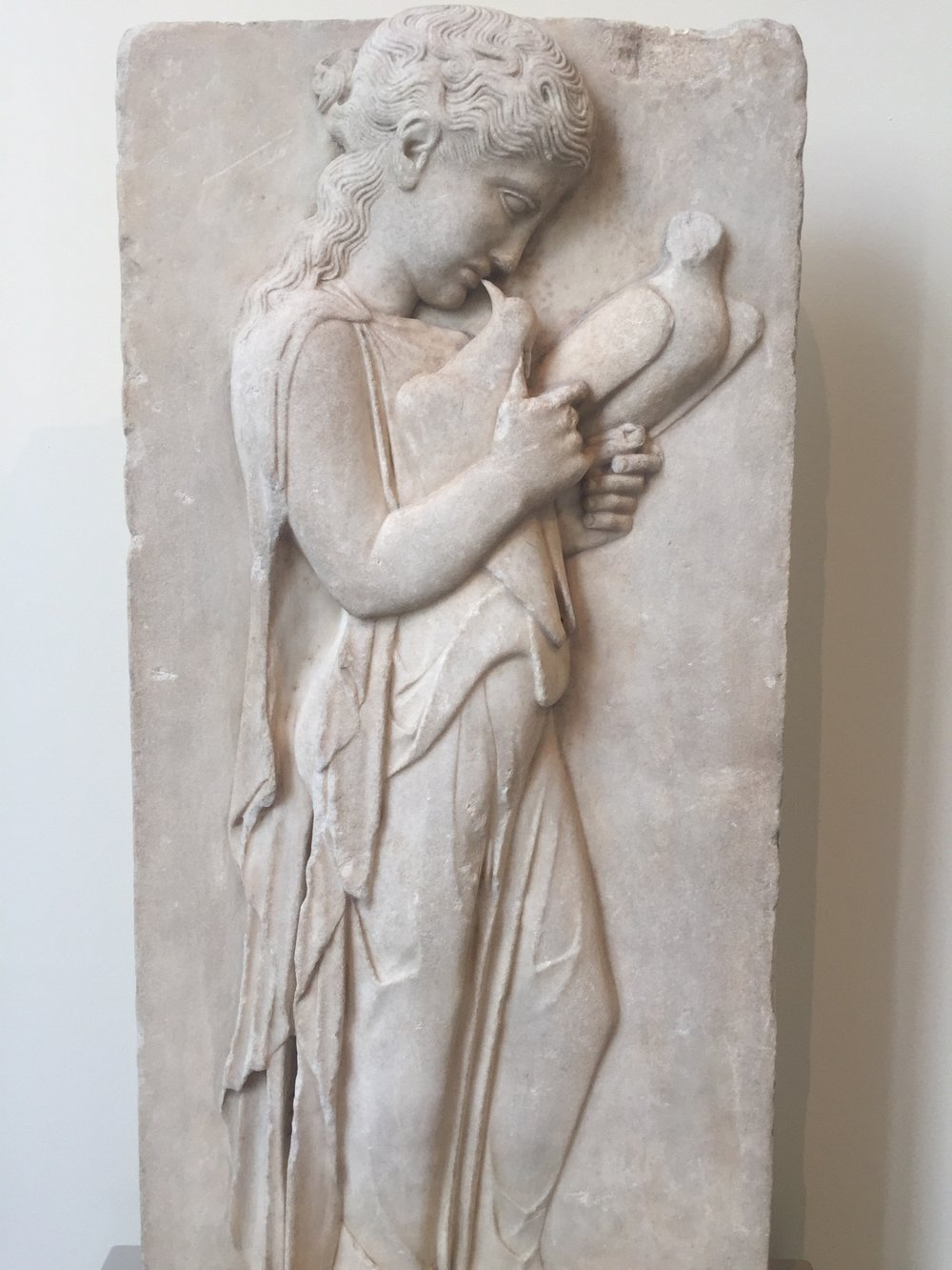 Marble grave stele