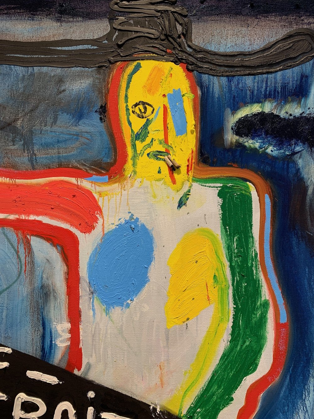 """Detail, """"Self-Portrait at Larry's"""" by Spencer Sweeney. Photographed at Gagosian Gallery by myself."""