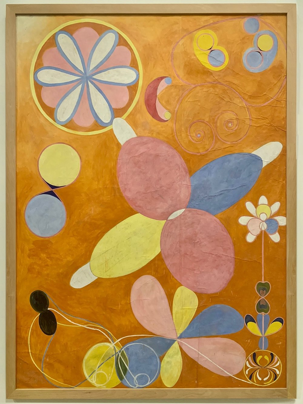 """""""Group IV, no 4, The Ten Largest,"""" by Hilma af Klint. Photographed as installed at the Guggenheim Museum."""