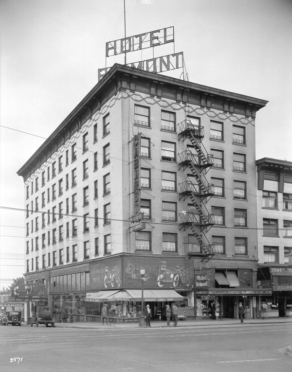 Belmont Hotel, August 22, 1932. Photo by Vancouver Archives