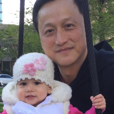 Dan Cheung and his daughter.