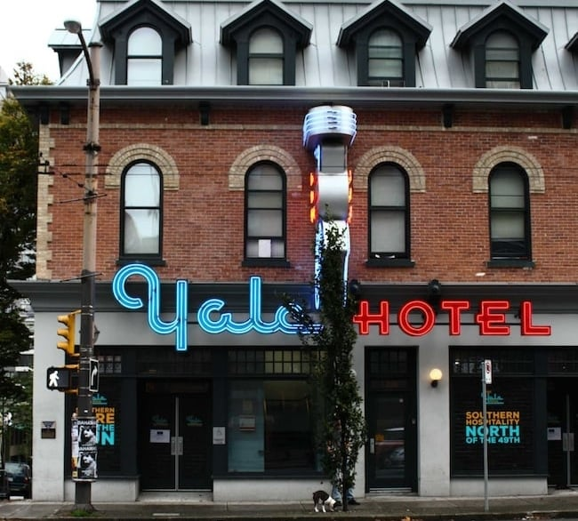 The Yale Hotel opened in 2015 with shining new neon signs.