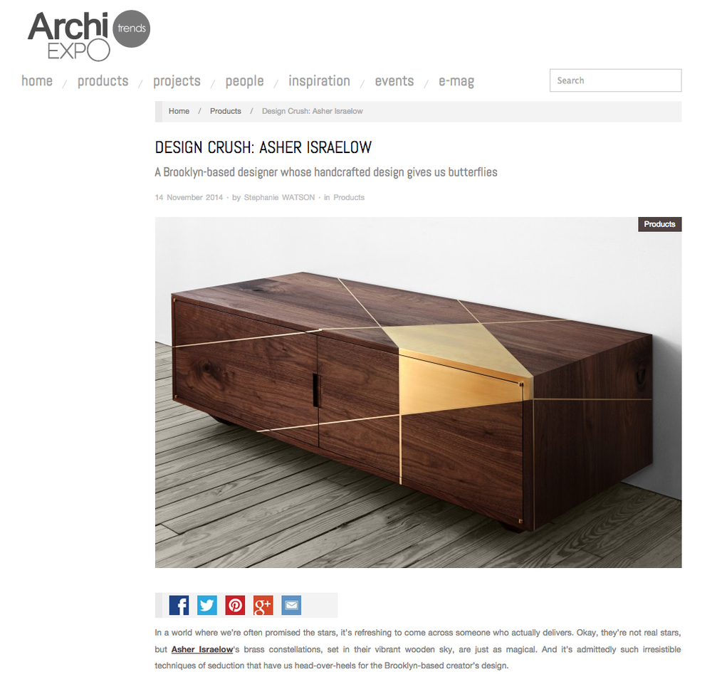 archiexpo november 2014. Black Bedroom Furniture Sets. Home Design Ideas