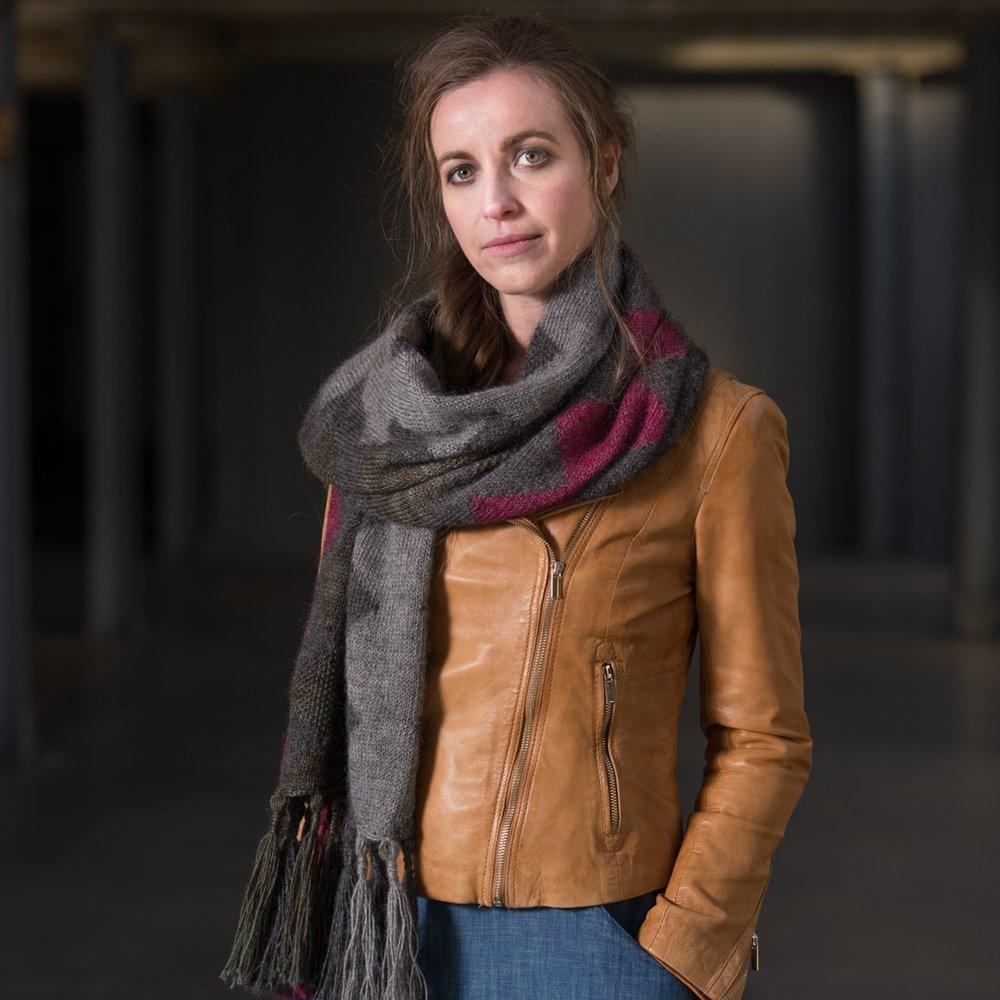 """Ormiston - a large shawl/wrap by Francesca Hughes in The Little Grey Sheep """"Gotland DK"""""""