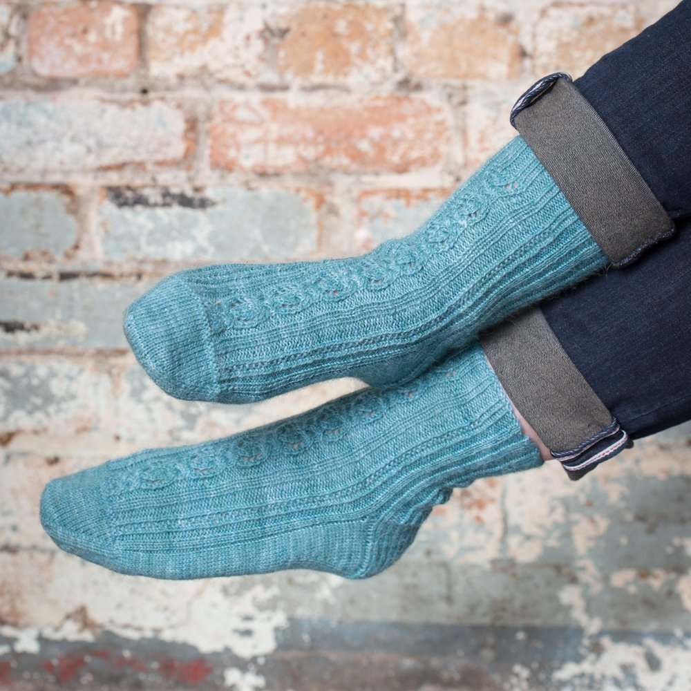 "Macmerry - socks by Clare Devine in gorgeous ""Britsock"" by The Knitting Goddess"