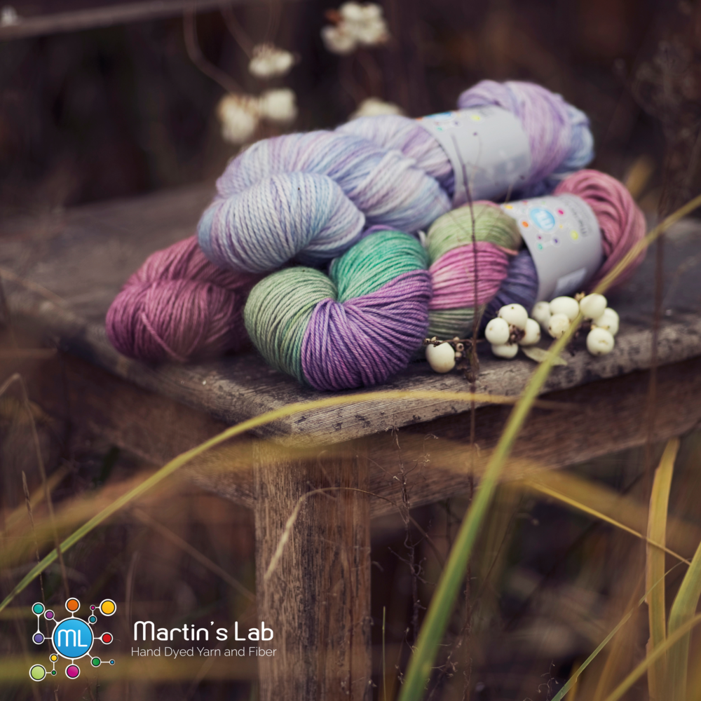 Martin's Lab: Handdyed beauties straight from Poland. Unique colors and fabulous bases. 100% Polish surprise coming to EYF too!