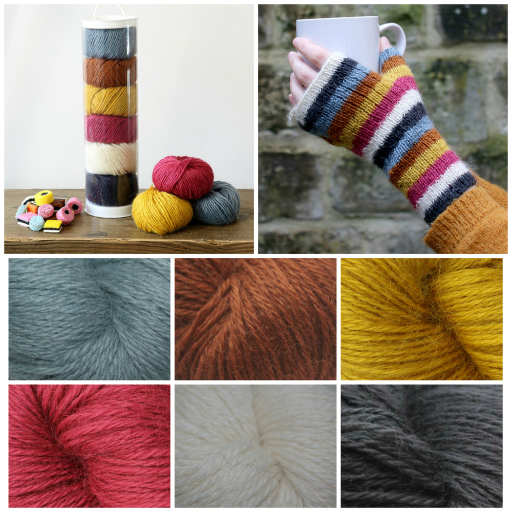 BaaRamEwe: Baa ram ewe introduce Titus Pick n Mix, a selection of six 12g Titus balls with fingerless mitt pattern. Perfect for colourwork, smaller projects, or gifts. Choose from Wine Gums, Liquorice Allsorts, Kali and Gobstoppers. Yummy!