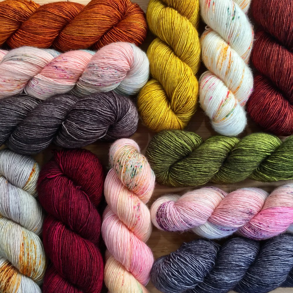 La Bien Aimée: La Bien Aimée is a small yarn company founded by Aimée in 2015. Each skein is dyed with love in our studio in Paris, France. Aimée and Hiroko work together to bring you a balance of sophistication and colorplay in every skein of La Bien Aimée.