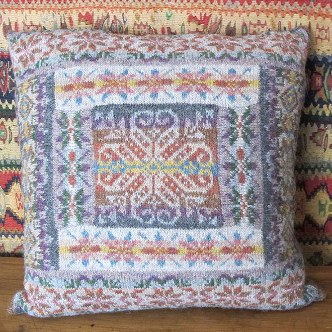 Marie Wallin Designs: To celebrate my first EYF, the very popular Fairisle Patch Cushion will be available as an exclusive kit. Knitted in Jamieson's of Shetland Spindrift, this beautiful cushion will make a stunning addition to any home.