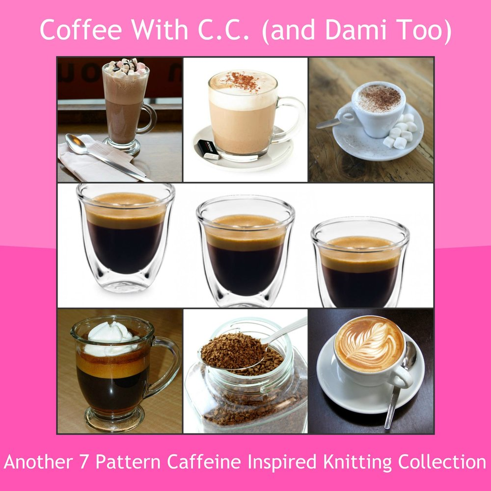 JavaPurl Designs: Our new book, Coffee With C.C. (and Dami Too) ~ Another 7 Pattern Caffeine Inspired Knitting Collection, will be releasing at EYF! The book includes 5 sock patterns, 1 fingerless mitts patterns, & 1 wrap pattern.