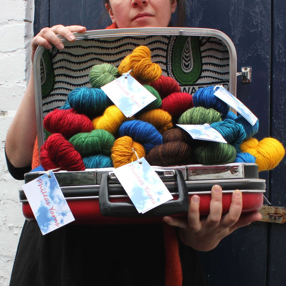 Phileas Yarns: Phileas Yarns are bright and colourful hand dyed yarns inspired by travels around the world. I shall bring my suitcases to EYF overflowing with my signature bold semi solid colourways, but also some exciting surprises!