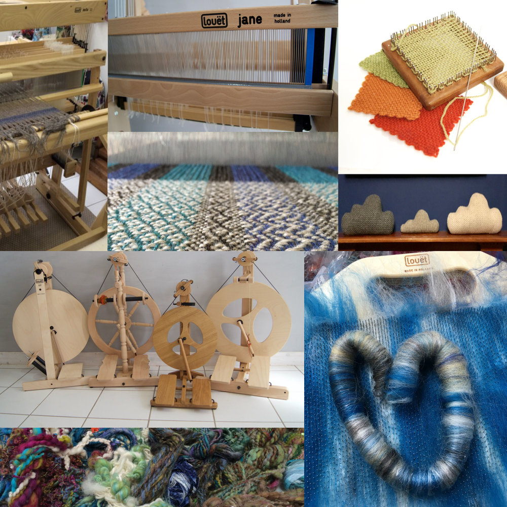 Weft Blown: Weft Blown is back at EYF this year and we will be bringing all of our Louët and Glimåkra Weaving and Spinning equipment, Hazel Rose Pin looms and our range of handwoven textiles.