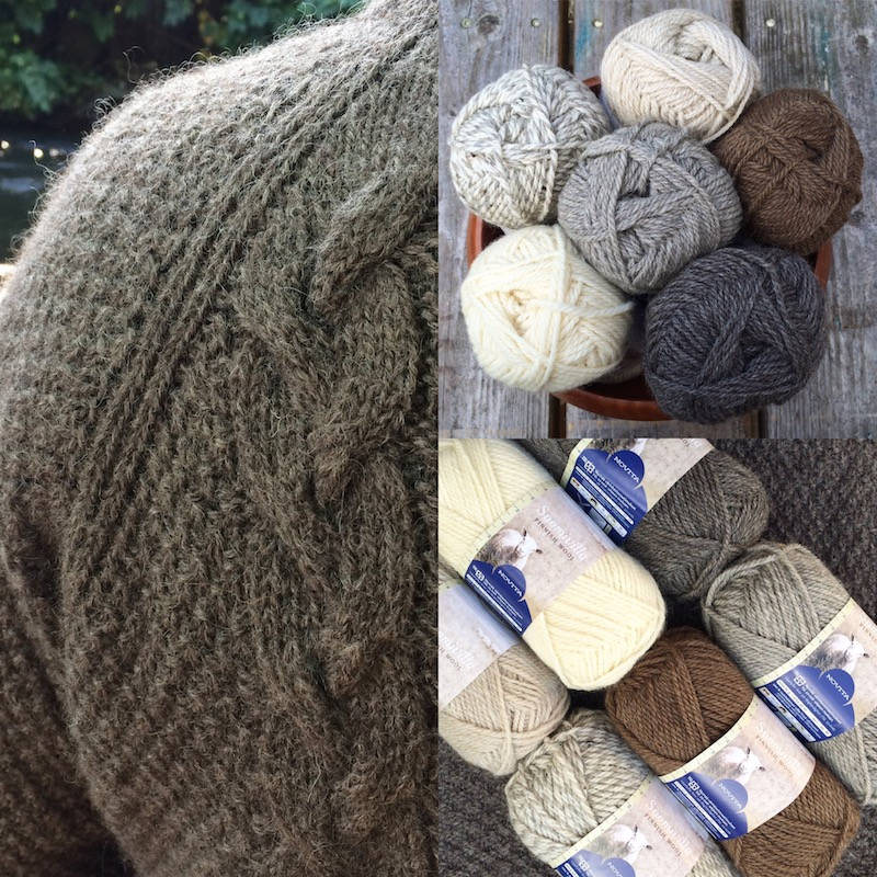 Midwinter Yarns: Midwinter Yarns may usually be all about colour, but this year we are proud to celebrate natural sheep shades too with our new Suomivilla Yarn. A soft, bouncy aran weight pure Finnish wool, perfect for those autumn sweaters.