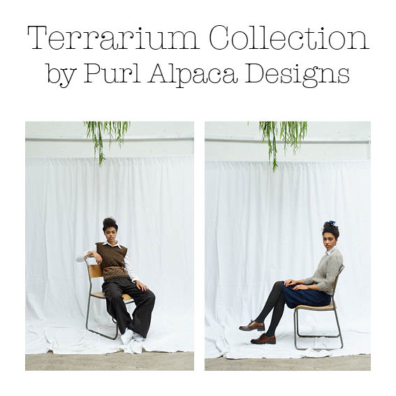 Purl Alpaca Designs: Purl Alpaca Designs will be bringing their new Terrarium Collection to EYF. A collection of modern and stylish knitwear to buy as knitting patterns or as knitting kits with their own British alpaca yarn.