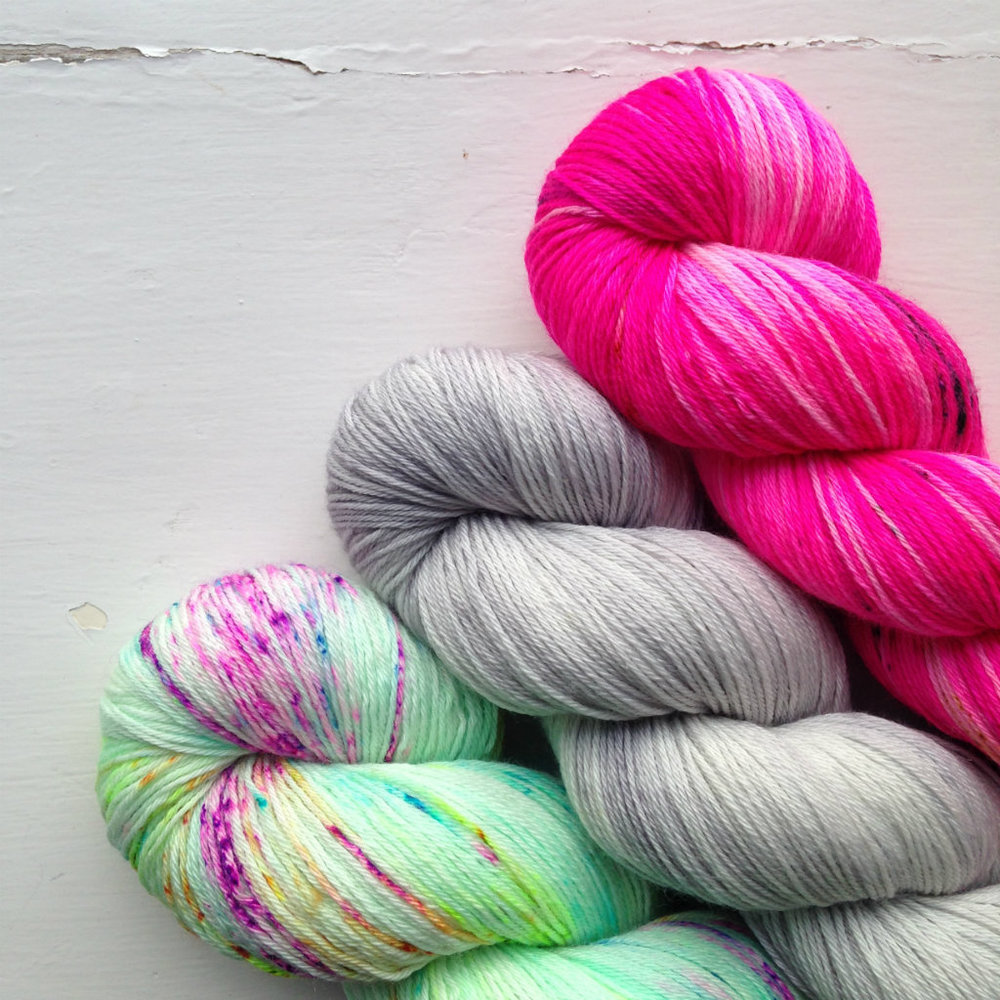 A Yarn Story: Specializing in hand-dyed yarns, we're bringing you some of our absolute favorites from dyers near and far including lots of gorgeous semi solids and outrageous speckles.