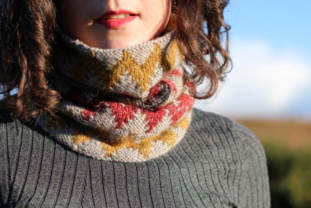 3rd Prize: Pattern & Yarn: Boherboy cowl kit (3 skeins of Nua yarn)