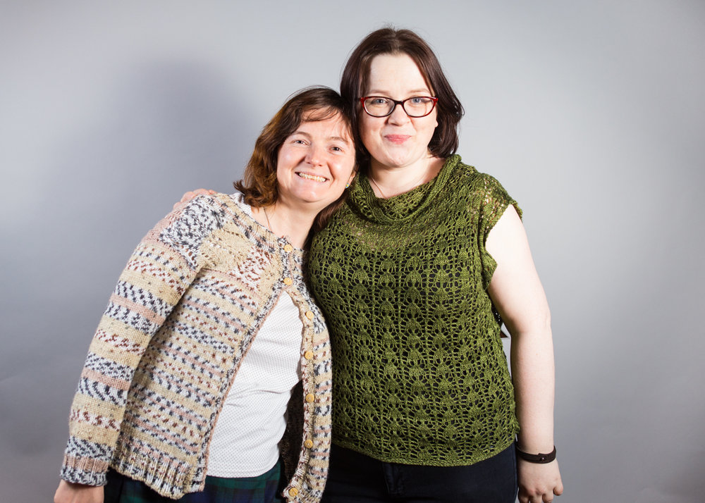 Louise Scollay (right) with fellow podcaster Louise Hunt ( Caithness Craft Collective)