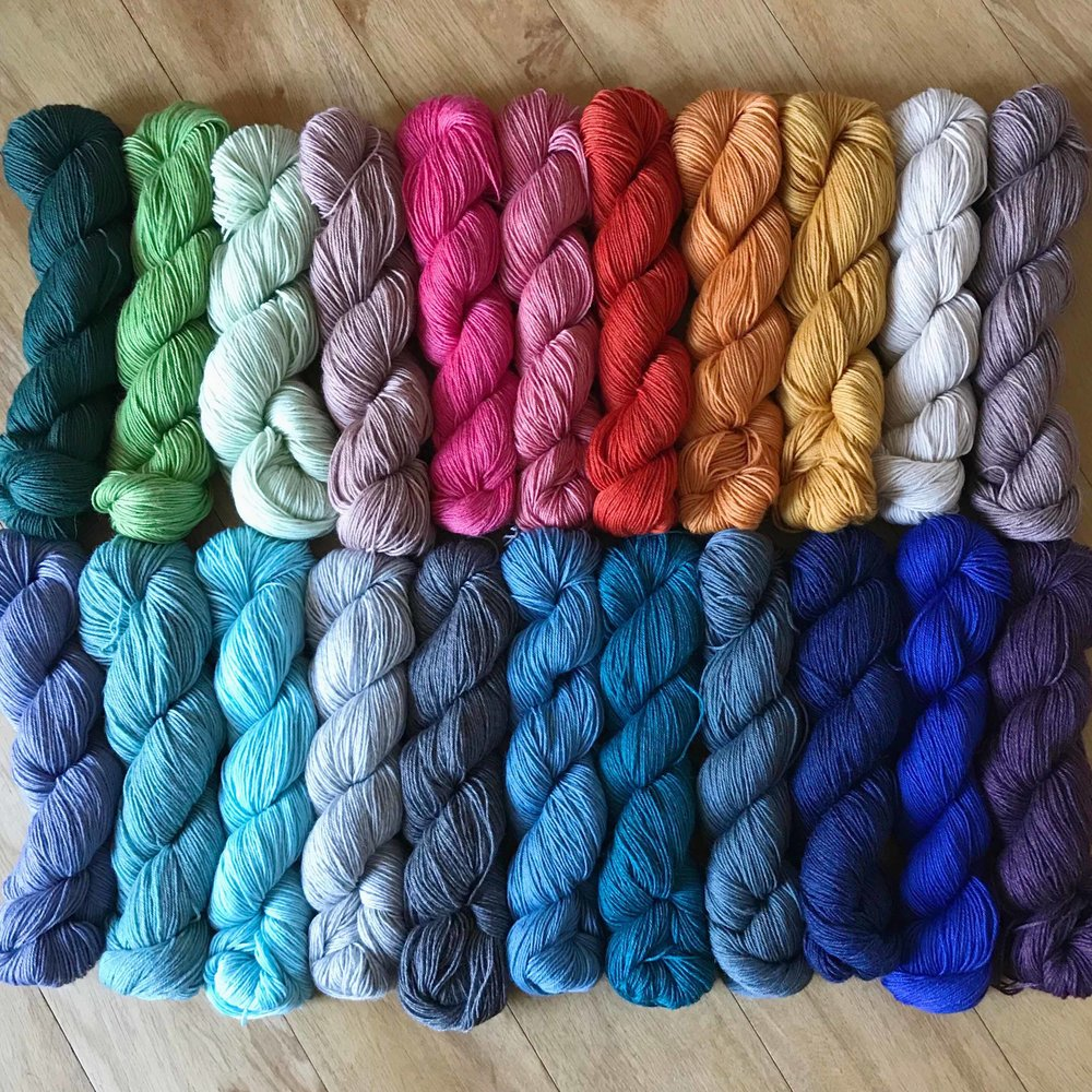 Coopknits   Sock yarns in a rainbow of colours and sock books filled with fun and beautiful patterns.