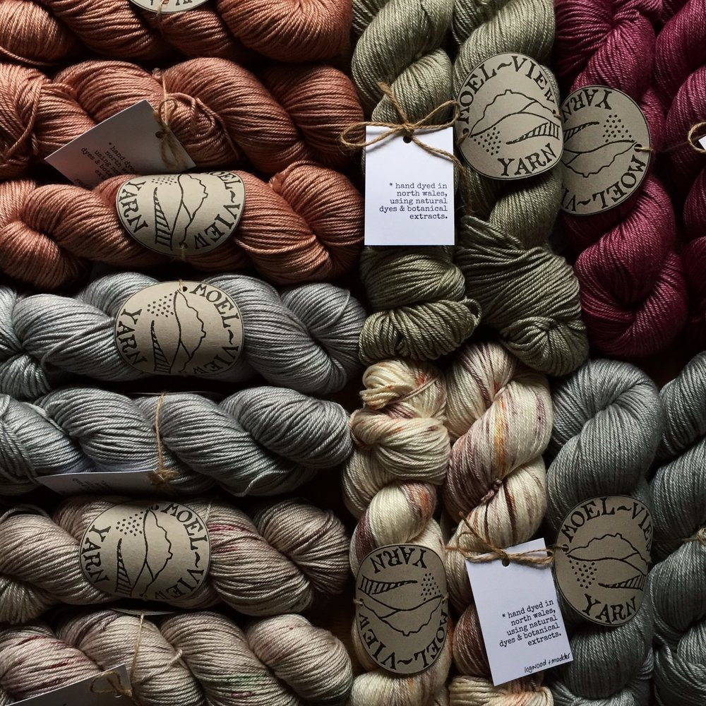 Moel View Yarn   Botanical & Naturally Dyed yarns from the hills of North Wales. From small farm, rare breed wools to luxury, silk mix yarns - everything is hand dyed naturally & responsibly, each skein is completely unique!