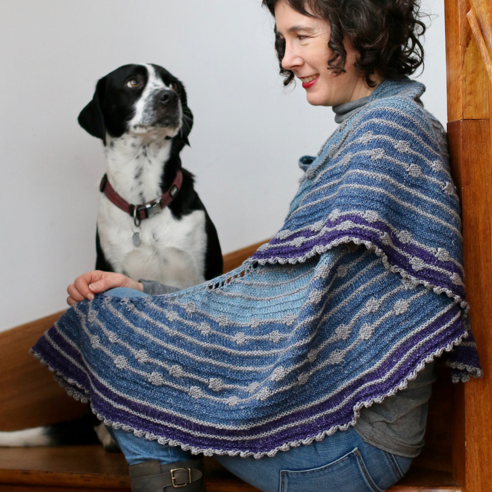 Stolen Stitches   Stolen Stitches will have lots of kits available in Nua Yarn, including Half Moon Street pictured. We'll have some very special surprises (however no bonus dog!)
