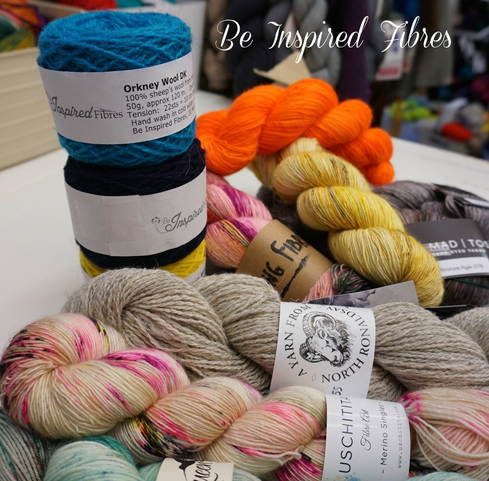 Be Inspired Fibres   Be Inspired Fibres is a destination speciality yarn shop based in Edinburgh, Scotland offering a range of well known and new indie hand dyed yarns, fibres and accessories from Scotland and around the world.