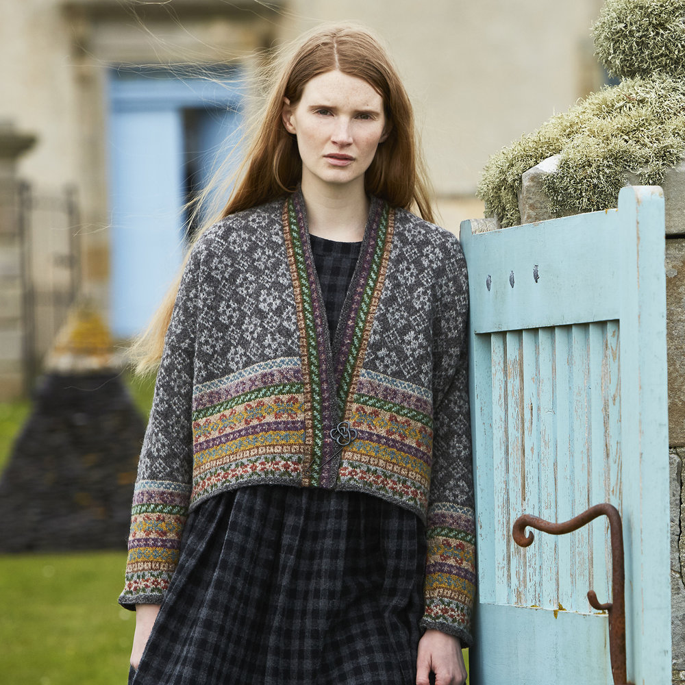 Marie Wallin Designs   YELL from SHETLAND will be available to buy as a kit. Come and meet Marie and see the SHETLAND and NORTH SEA garments, the FAIRISLE CLUB designs, books and other kits.