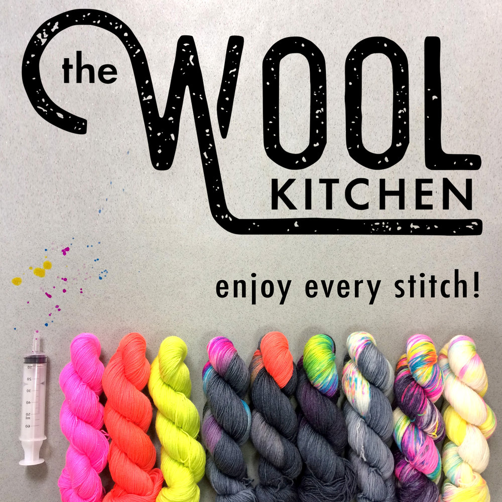 The Wool Kitchen   Hand-dyeing yarn with fun! Passionate about colour and how it knits, we want to you to 'enjoy every stitch!' Please drop by say hi and experience the alchemy for yourselves.