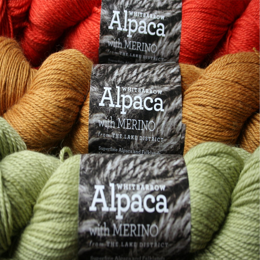 Town End Alpacas   Whitbarrow is our scrumptious blend of alpaca, merino and silk fingering yarn spun and dyed in the UK. It's great for shawls, jumpers and cardigans as it's so soft next to your skin and in 30+ beautiful colours,