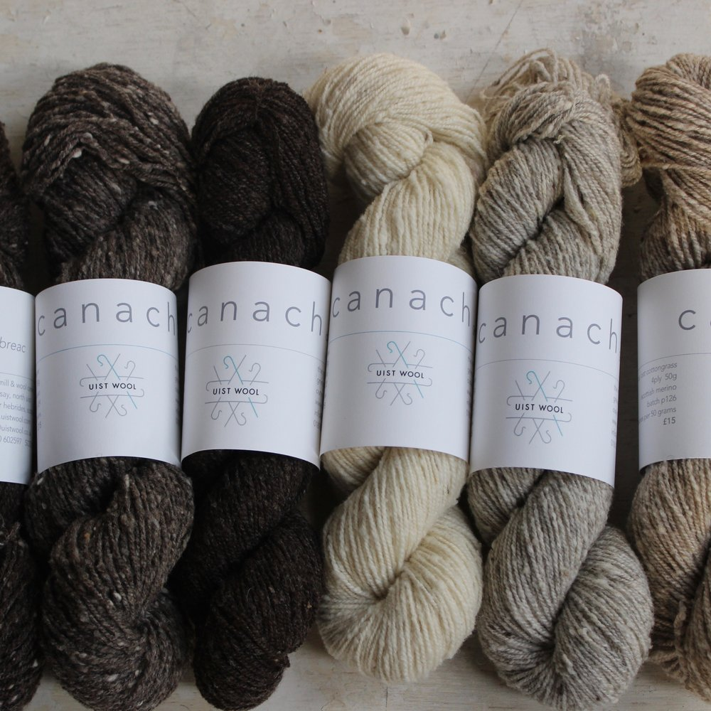 Uist Wool   We couldn't be at EYF without our gorgeous Canach range. Undyed Scottish merino graded, washed & spun with love at the Uist Wool mill on Grimsay. PLUS Glas will be back!
