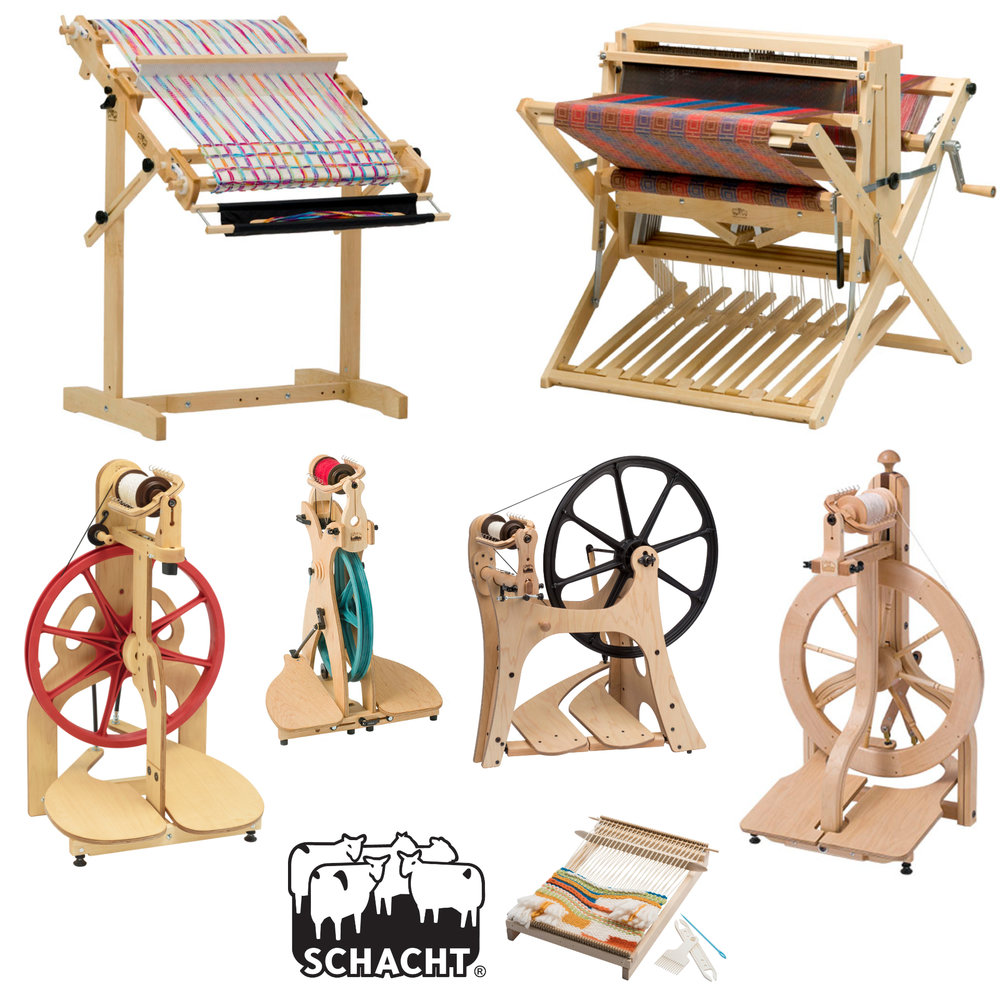 Weft Blown   Weft Blown is very excited to be back at EYF this year with our full range of Schacht spinning wheels and weaving looms as well as our Louët wheels and looms and Glimåkra weaving equipment.