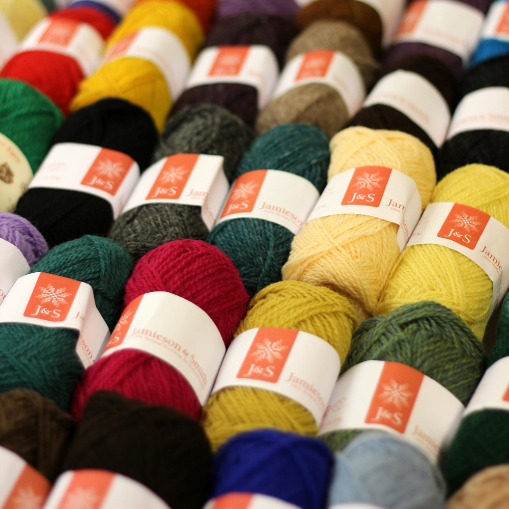 Jamieson & Smith - Shetland Woolbrokers   Jamieson & Smith grade and handsort over 80% of the Shetland clip. Real Shetland wool from 1ply to Chunky, including completely undyed yarn ranges, not forgetting Jumper Weight, the perfect Fair Isle and colourwork yarn!