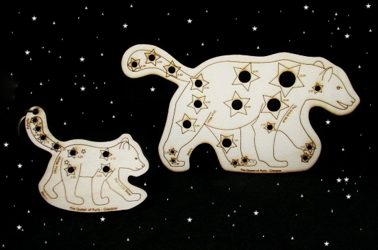 The Queen of Purls   Needle Gauges in the form of Ursa Major and Ursa Minor. A whimsical yet practical knitting accessory for star loving knitters!