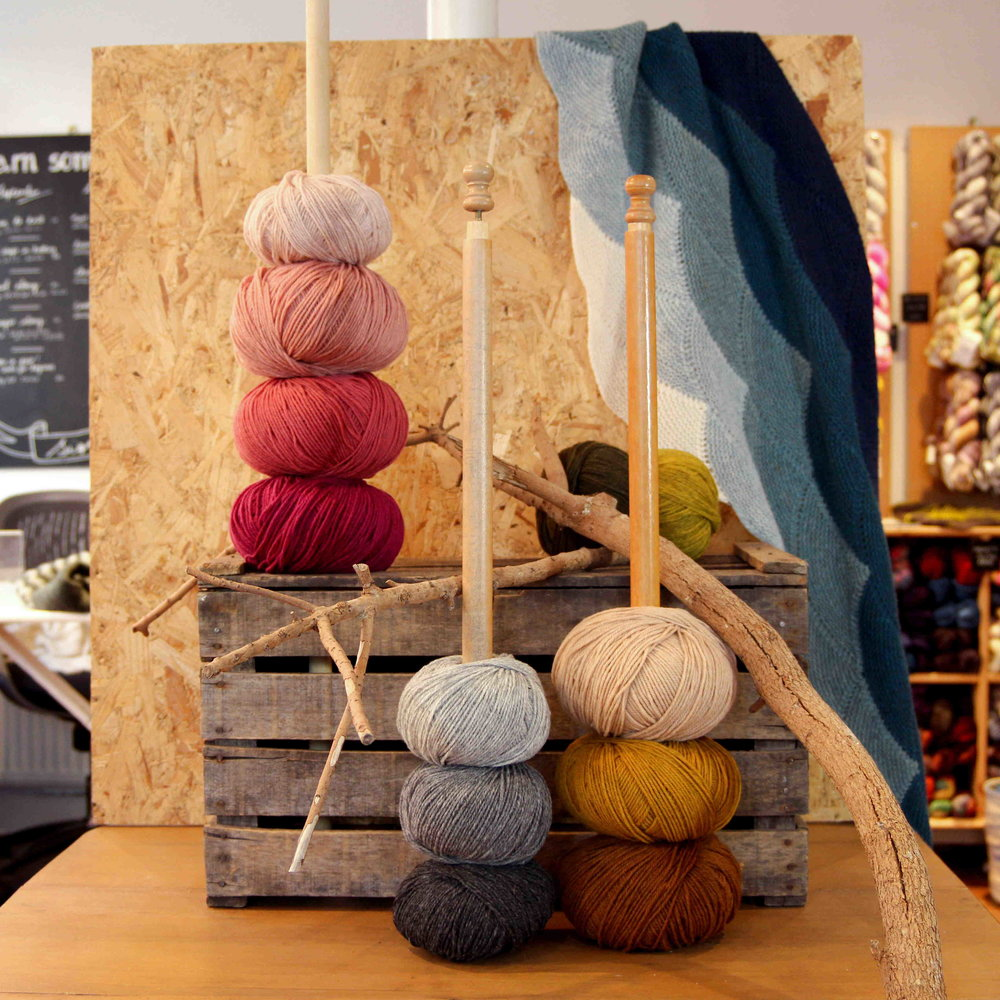 YAK   YAK has handpicked yarn by De Rerum Natura to showcase at Edinburgh this year. This European merino wool is worsted spun and ecologically produced in France. The colours are completely unique so make sure to come and see them in person.
