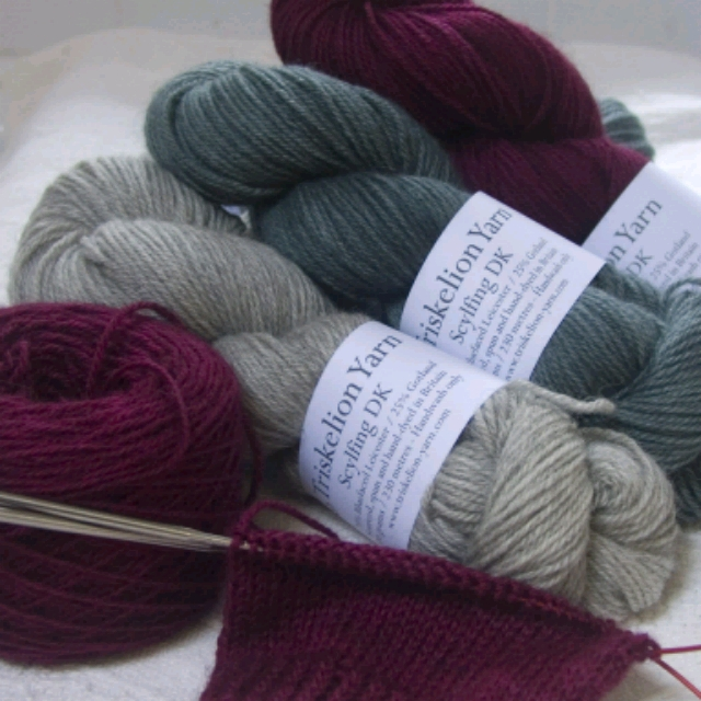 Triskelion Yarn and Fibre   Exclusive to Triskelion Yarn, Scylfing is a British sourced and spun blend of BFL and Gotland in very wearable colourways, and is part of our range of hand-dyed wool and luxury yarns.