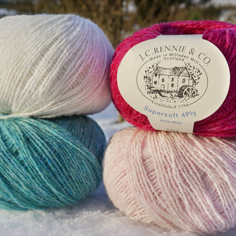 JC Rennie & Co Ltd   Established 220 years ago in the north-east of Scotland, we pride ourselves in producing Lambswool, Shetland and Cashmere blend yarns of enviable quality in rich heather melange colours, unique to J. C. Rennie & Co.
