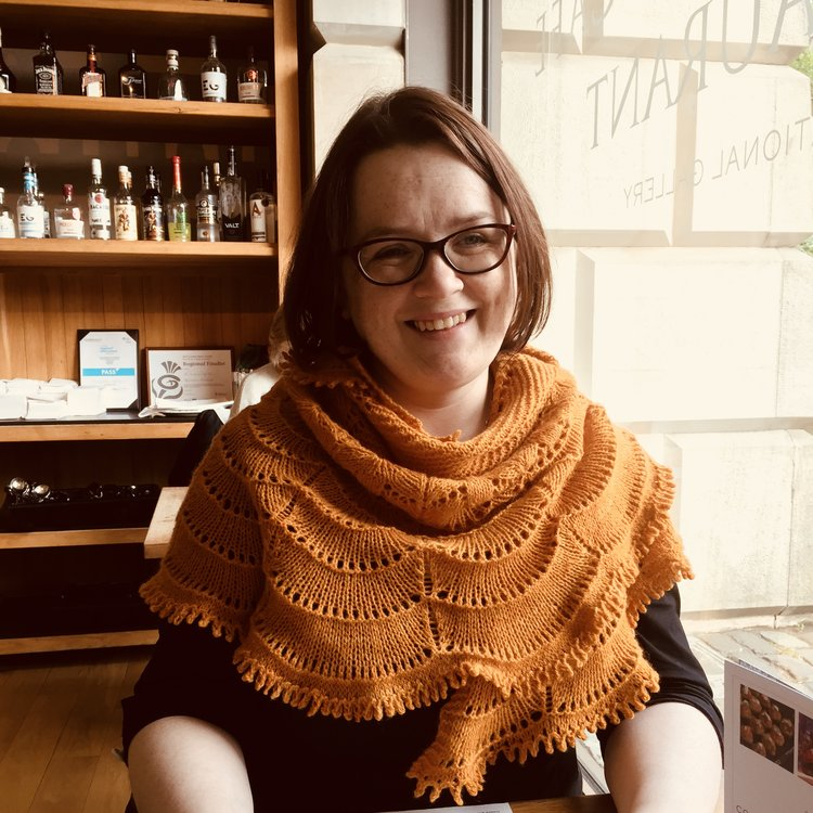 Louise Scollay of Knit British: your hostess with the mostest!