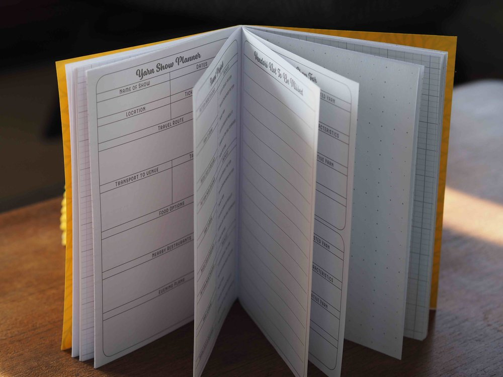 Keep all your notes together - there's dotted and knitters' paper too.