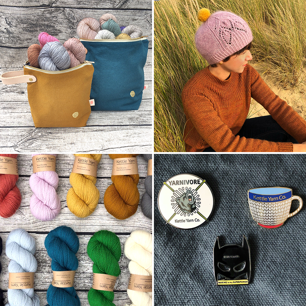 KETTLE YARN CO  Kettle Yarn Co. products actively work to support British farmers and safeguard animals and the environment, endeavouring to make the wool industry sustainable for future generations by meeting the needs of the present.