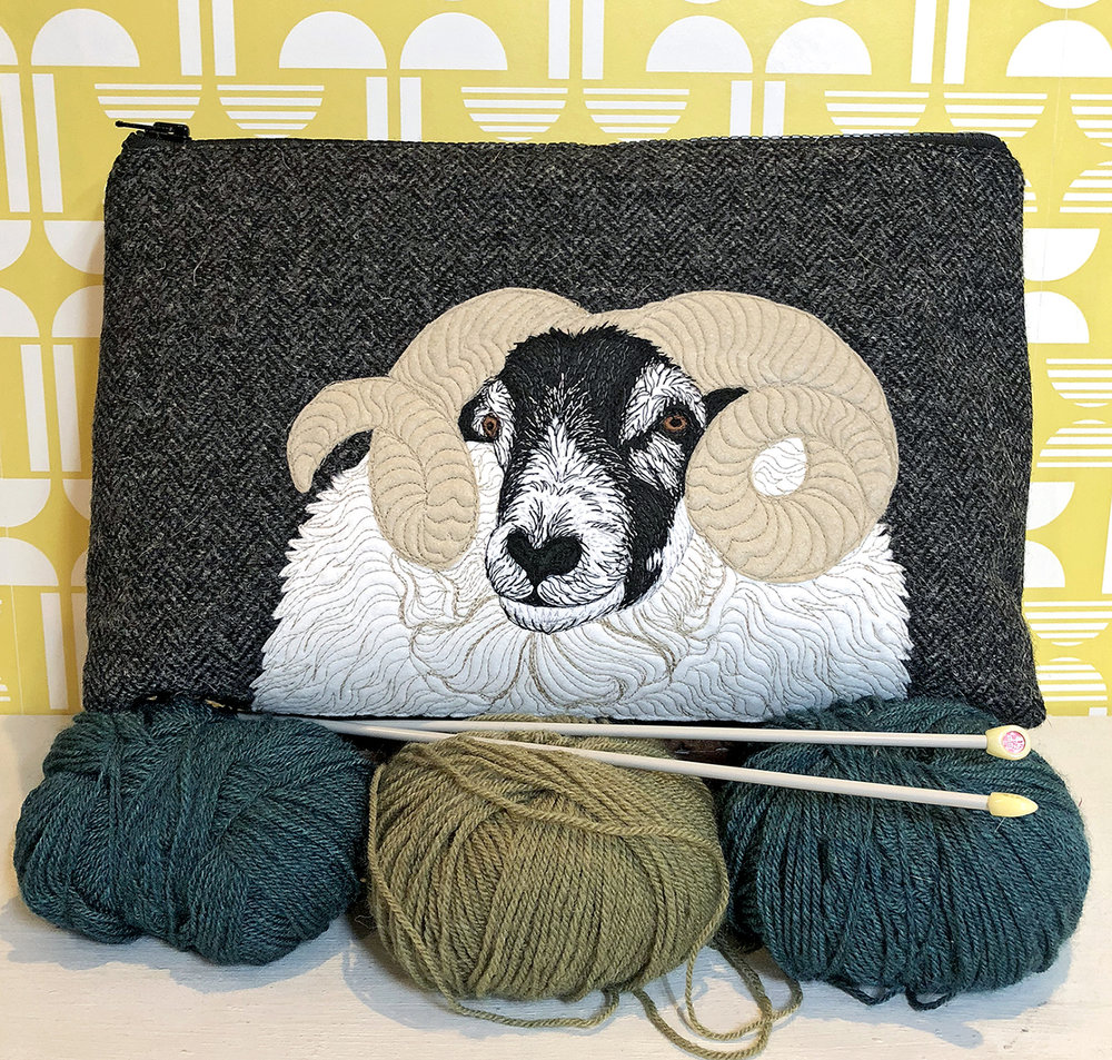The Canny Squirrel   Drawing on nature and the Scottish landscape, The Canny Squirrel creates a range of characterful handmade Harris Tweed project bags, cushions and accessories featuring intricate free motion embroidered animal designs.